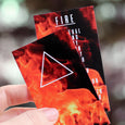FIRE ELEMENT - Pouch Crystal Set with Reference Cards