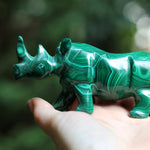 Malachite Rhinoceros - 4.9""