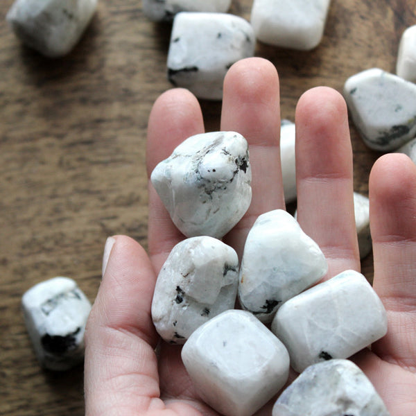 White Moonstone Tumbled Stone