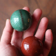 ONE SET LEFT! HOLIDAY SPECIAL - Red Jasper & Green Aventurine Sphere Set