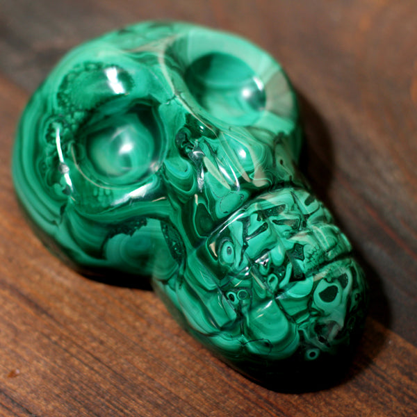 SALE Large Malachite Skull - Over 2lbs!