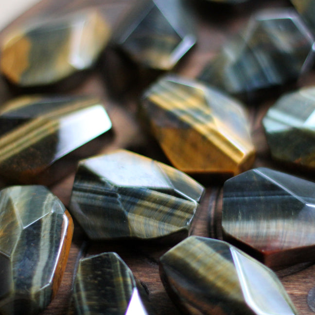 Faceted Tigers Eye - Extra Quality