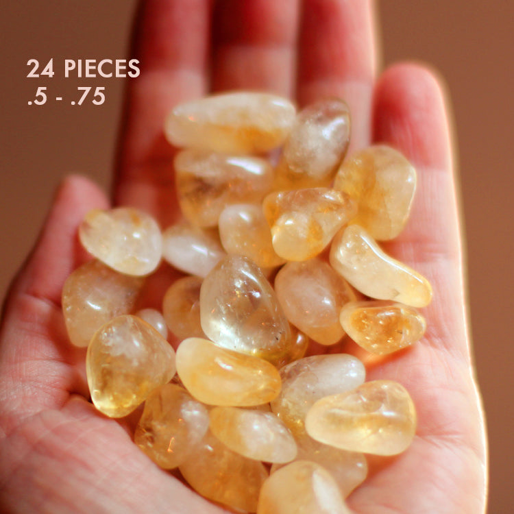 12 or 24 Citrine Tumbled Stones