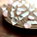 12 Rose Quartz Tumbled Stones