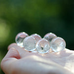 6 Natural Quartz Spheres - 18-19mm
