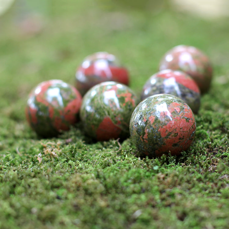 Unakite Sphere - 30mm