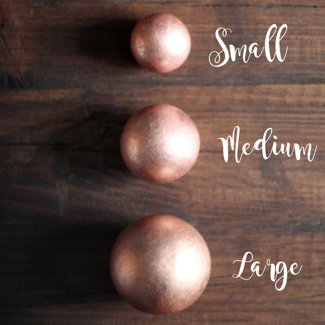 Solid Copper Sphere - Choice of Size