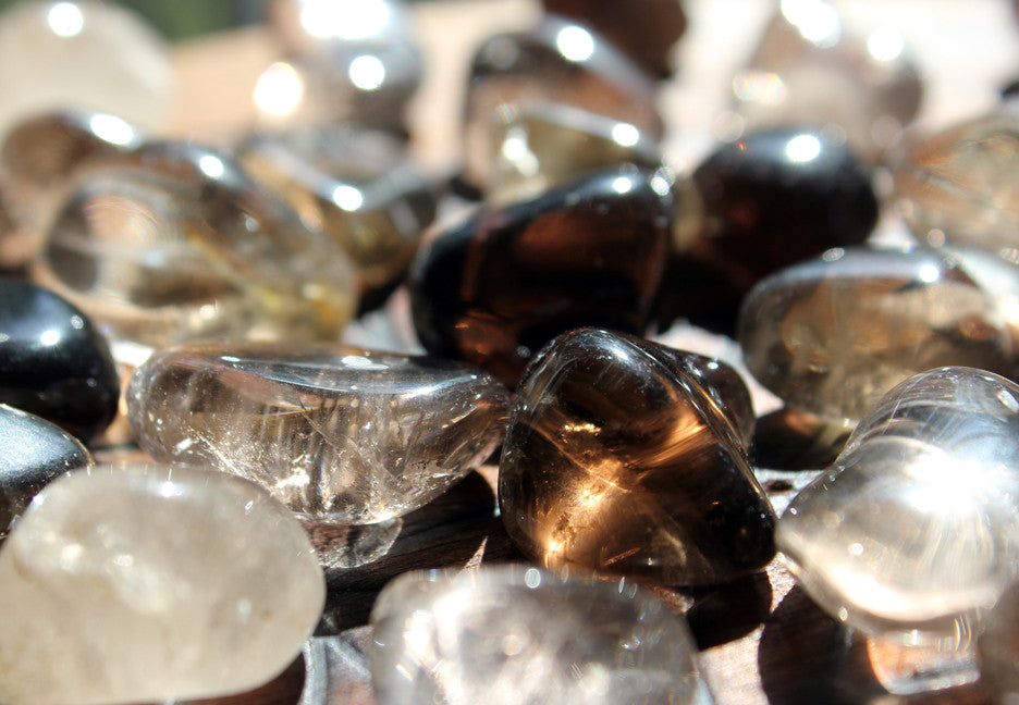 12 Smoky Quartz Tumbled Stones
