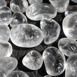 12 Tiny Clear Quartz Tumbled Stones
