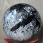 Black Tourmaline Quartz Sphere - Over 9lbs!
