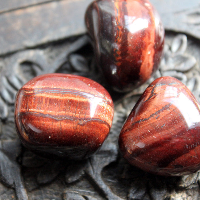 Tumbled Tigers Eye - Red