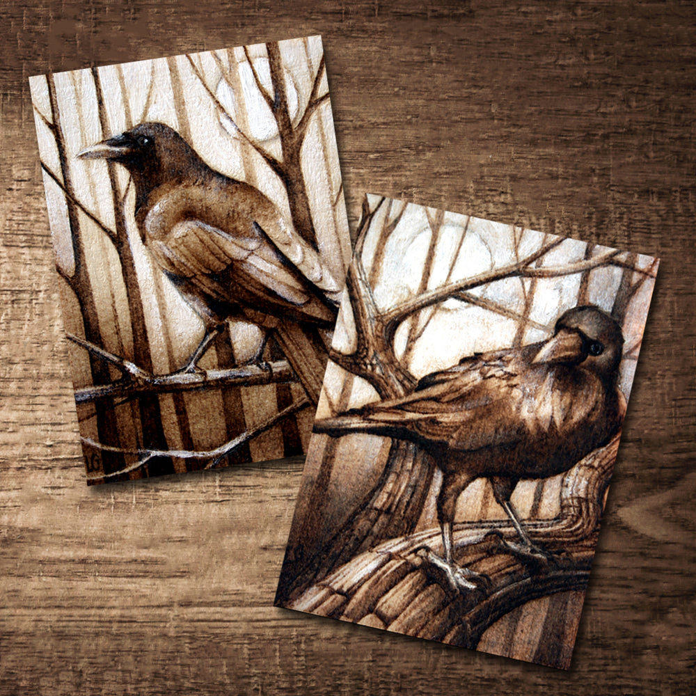 "Raven Postcard 5"" x 7"" Print Set - SIGNED"