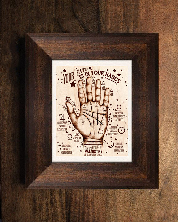 Palmistry Hand Palmistry Print Your Fate is In Your Hands