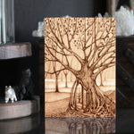 Woodburning Pyrography Tree Art Print Safe Keeping by Lauren Gray