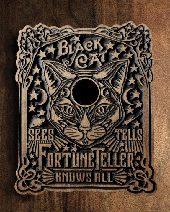 Black Cat Fortune Teller - Numbered Engraving