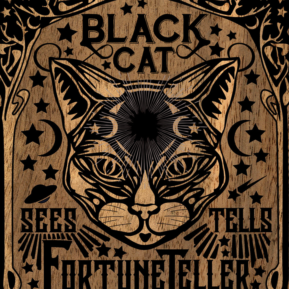 Black Cat Fortune Teller - Art Print