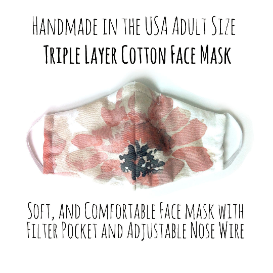 Watercolor Flowers Face Mask