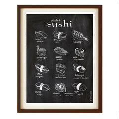 GUIDE TO SUSHI ART PRINT (BLACK) BY ANNA SEE