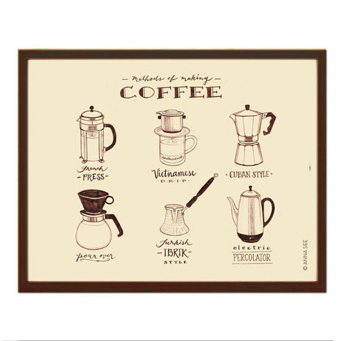 GUIDE TO METHODS OF MAKING COFFEE ART PRINT (IVORY) BY ANNA SEE