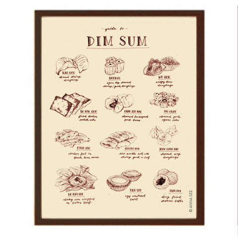 GUIDE TO DIM SUM ART PRINT (IVORY) BY ANNA SEE