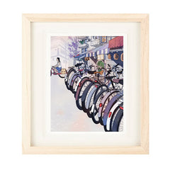 BICYCLES PRINT BY NICK LU