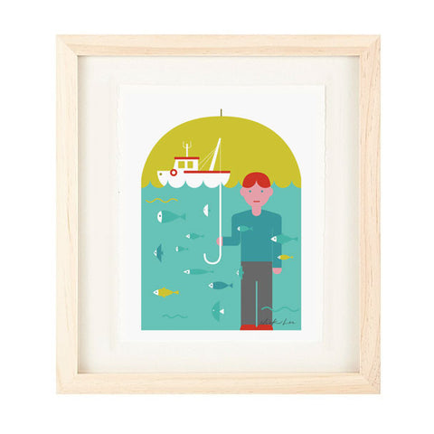 FISHING PRINT BY NICK LU
