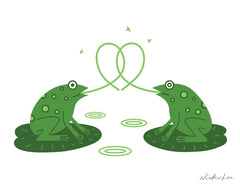 LOVE FROGS PRINT BY NICK LU