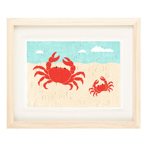 CRABS ILLUSTRATION GICLEE ART PRINT BY ANNA SEE