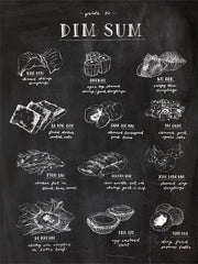 GUIDE TO DIM SUM ART PRINT (BLACK) BY ANNA SEE