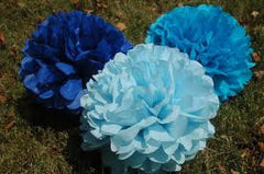 "One Dozen 4"" Tissue Mini Pom Poms"