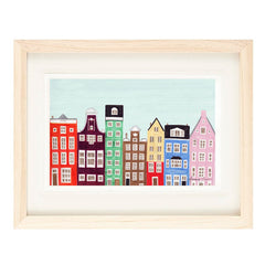 AMSTERDAM ILLUSTRATION GICLEE ART PRINT BY ANNA SEE