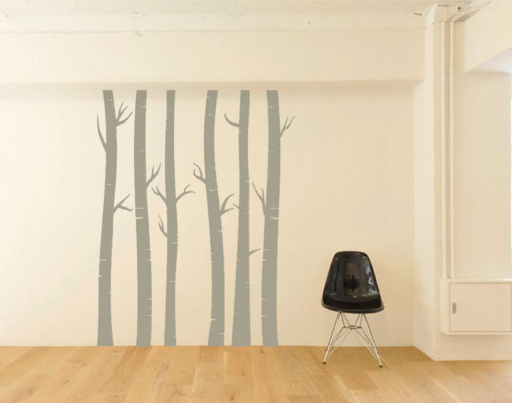 NURSERY TREE WALL DECAL Birch Trees Bundle Of Removable Vinyl - Vinyl wall decals birch tree