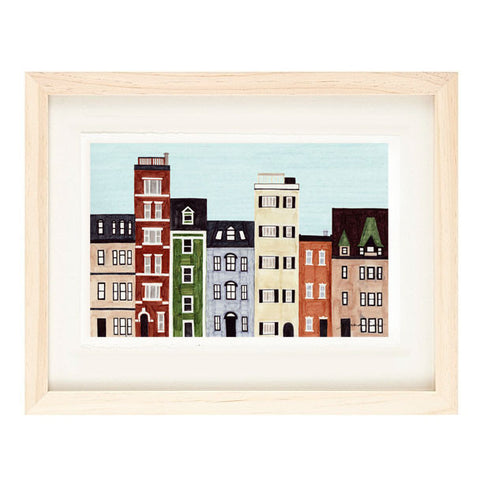 BOSTON, NEW ENGLAND ILLUSTRATION GICLEE ART PRINT BY ANNA SEE