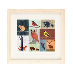 WOODLAND ANIMALS ILLUSTRATION GICLEE ART PRINT BY ANNA SEE