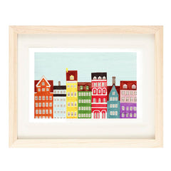 COPENHAGEN ILLUSTRATION GICLEE ART PRINT BY ANNA SEE