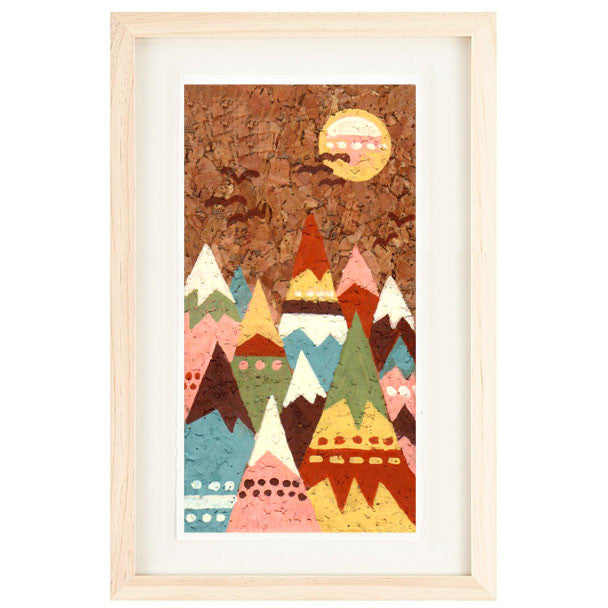 CORK MOUNTAINS ILLUSTRATION GICLEE ART PRINT BY ANNA SEE