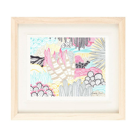 DESERT FOLIAGE PATTERN ILLUSTRATION GICLEE ART PRINT BY ANNA SEE