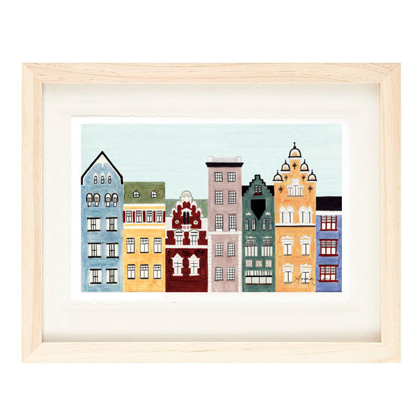 HELSINKI, FINLAND ILLUSTRATION GICLEE ART PRINT BY ANNA SEE