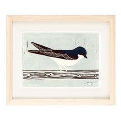 HOUSE MARTIN HAND-CARVED LINOCUT ILLUSTRATION ART PRINT BY ANNA SEE