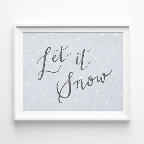"""LET IT SNOW"" CALLIGRAPHY ART PRINT BY ANNA SEE"