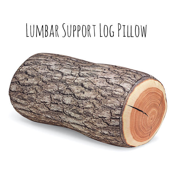 TREE LOG PILLOW, LUMBAR BACK SUPPORT, HEAD REST, TRAVEL PILLOW, PILLOW ROLL, Round Circular Pillow, Wood, Cabin, Lodge Decor