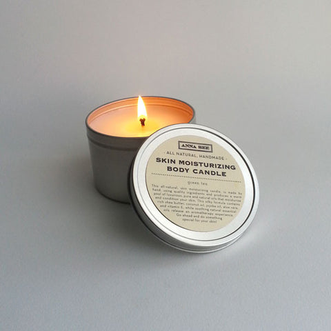 ALL-NATURAL, SKIN MOISTURIZING BODY TRAVEL CANDLE,  8 OZ. HANDMADE EXCLUSIVELY FOR ANNA SEE