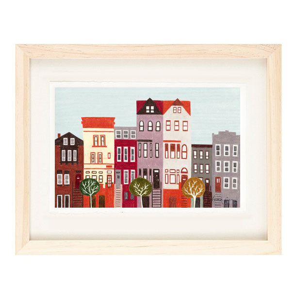 BROOKLYN, NEW YORK CITY ILLUSTRATION GICLEE ART PRINT BY ANNA SEE