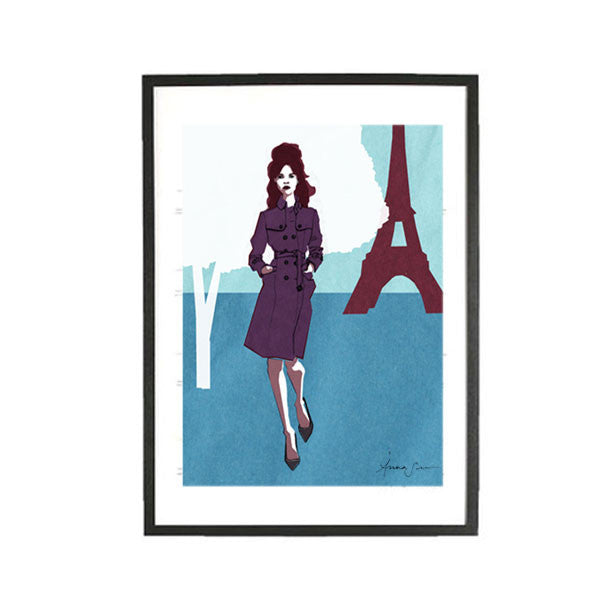 PARIS KATE ILLUSTRATION GICLEE ART PRINT BY ANNA SEE