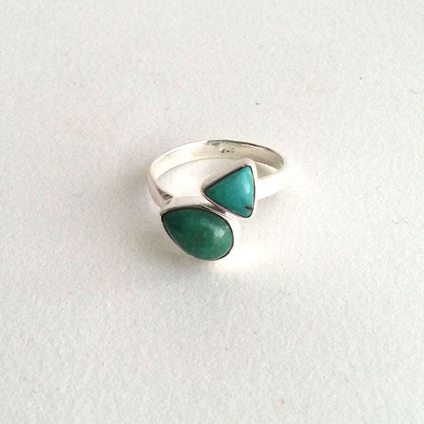 RING: NATURAL TURQUOISE RING, 100% SOLID .925 STERLING SILVER, HANDMADE AND AVAILABLE EXCLUSIVELY AT ANNA SEE