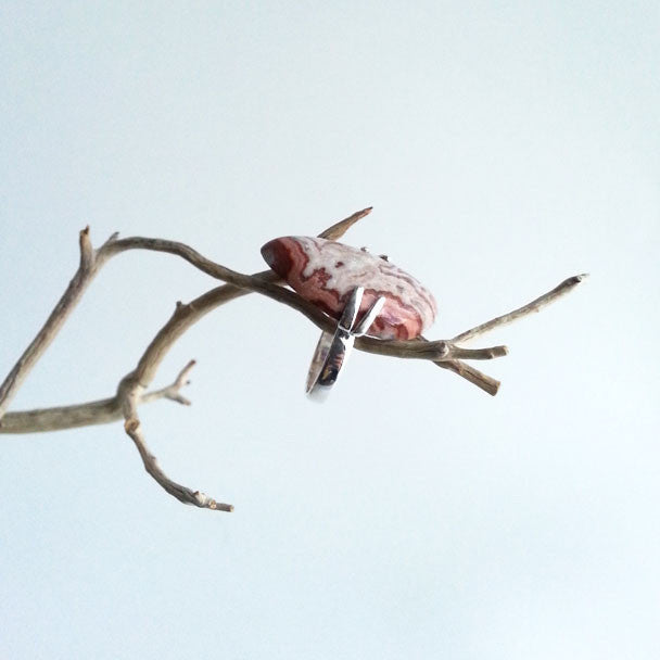 RING: NATURAL CRAZY LACE AGATE RING, 100% SOLID .925 STERLING SILVER, HANDMADE AND AVAILABLE EXCLUSIVELY AT ANNA SEE