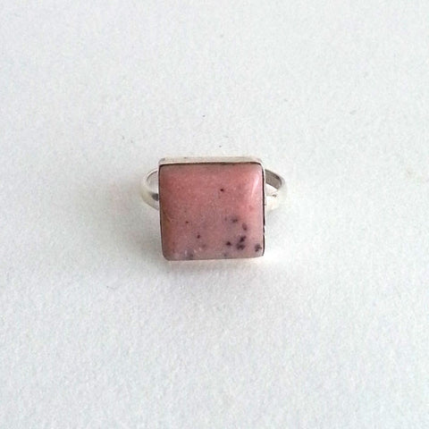RING: NATURAL PINK OPAL RING, 100% SOLID .925 STERLING SILVER, HANDMADE AND AVAILABLE EXCLUSIVELY AT ANNA SEE