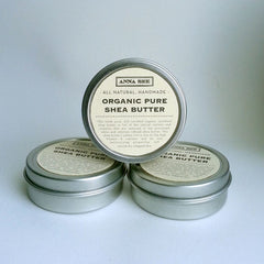 ALL NATURAL, 100% CERTIFIED ORGANIC SHEA BUTTER, 2 OZ. TRAVEL SIZE, HANDMADE EXCLUSIVELY FOR ANNA SEE