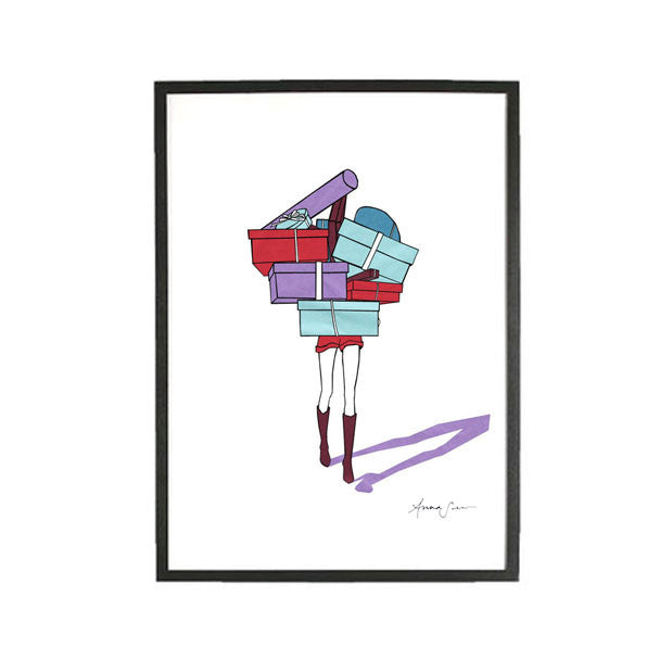 SHOPPING SEASON LIMITED EDITION ILLUSTRATION GICLEE ART PRINT BY ANNA SEE