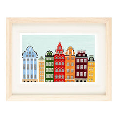 STOCKHOLM ILLUSTRATION GICLEE ART PRINT BY ANNA SEE